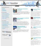 www.snowboardingextremo.com - Centro informativo sobre el snowboarding presenta artículos sobre el equipamiento fundamentos historia y galería de fotos
