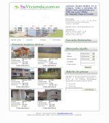 www.suvivienda.com.ec - Inmobiliaria respaldada con el asesoramiento familiar de arquitectos y dise�adores. presenta cat�logo de ofertas.